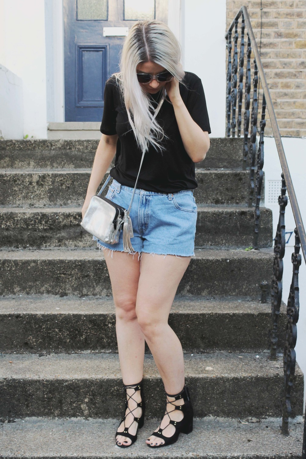 northern magpie levi denim shorts image 3