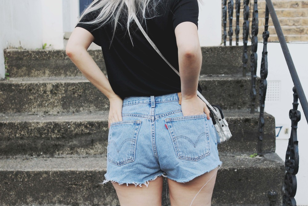northern magpie levi denim shorts image 4