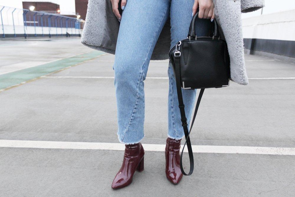 alexander wang handbag godet jeans topshop sock boots public desire