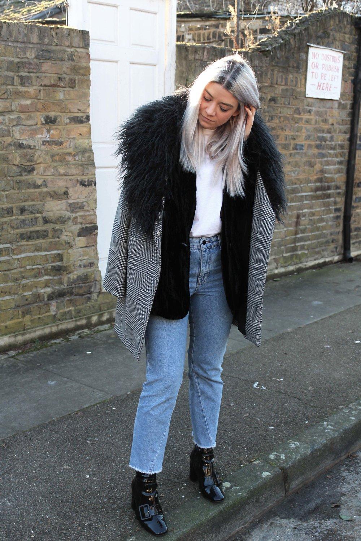 velvet blazer, topshop jeans, northern magpie