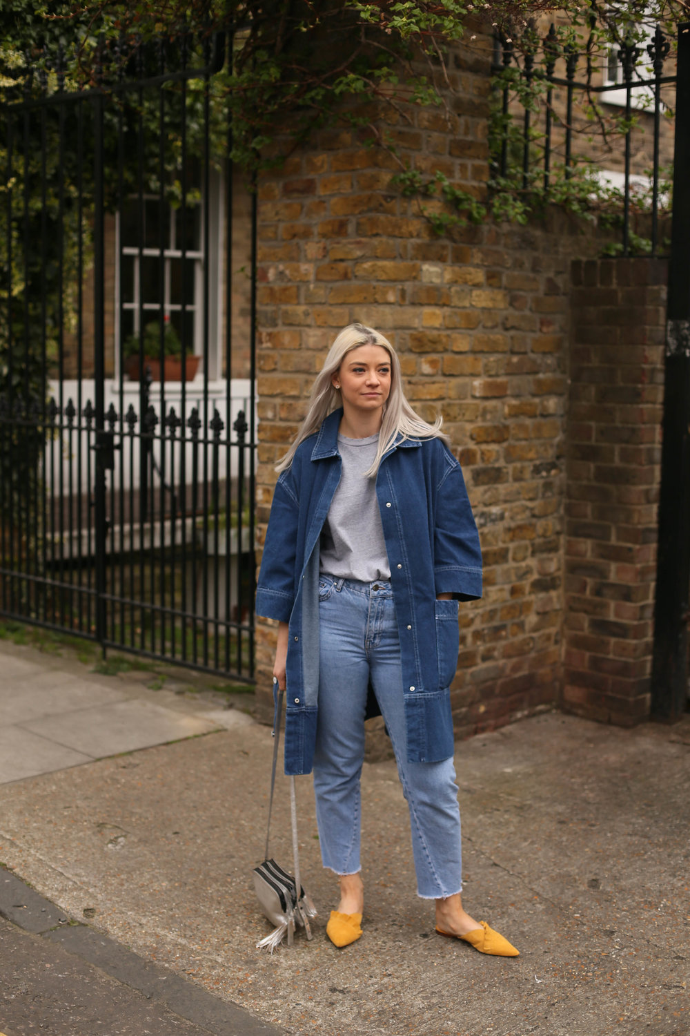 double denim, asos white, longline denim jacket, northern magpie, joey taylor, asos white