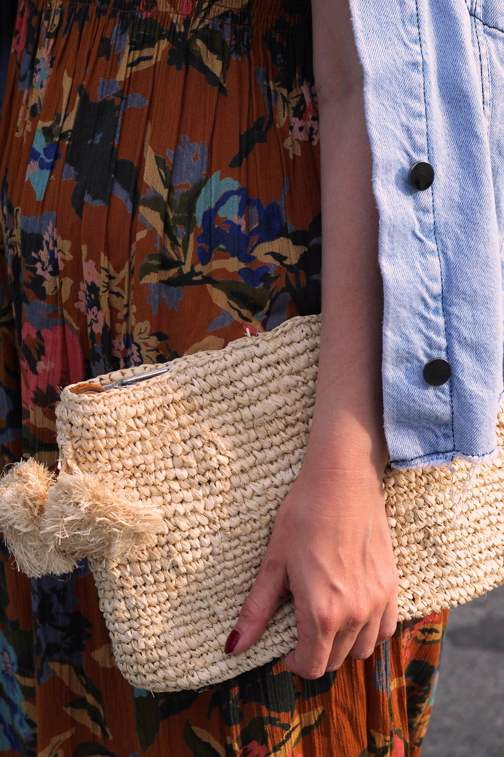 summer dress, off the shoulder dress, straw bag, round sunglasses, northern magpie, joey taylor 4