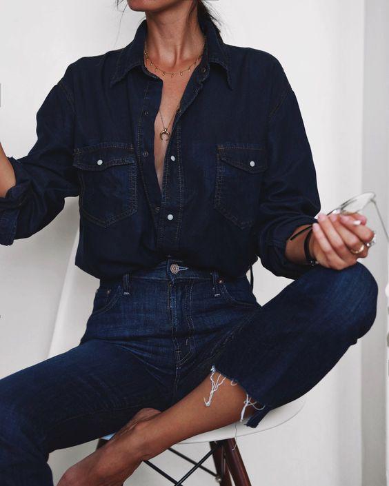 dark denim jeans, indigo jeans, august inspiration, northern magpie
