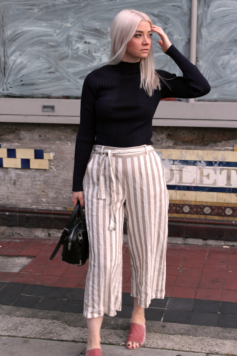 autumn winter 17, new look, striped trousers, ribbed turtle neck, northern magpie, joey taylor 2