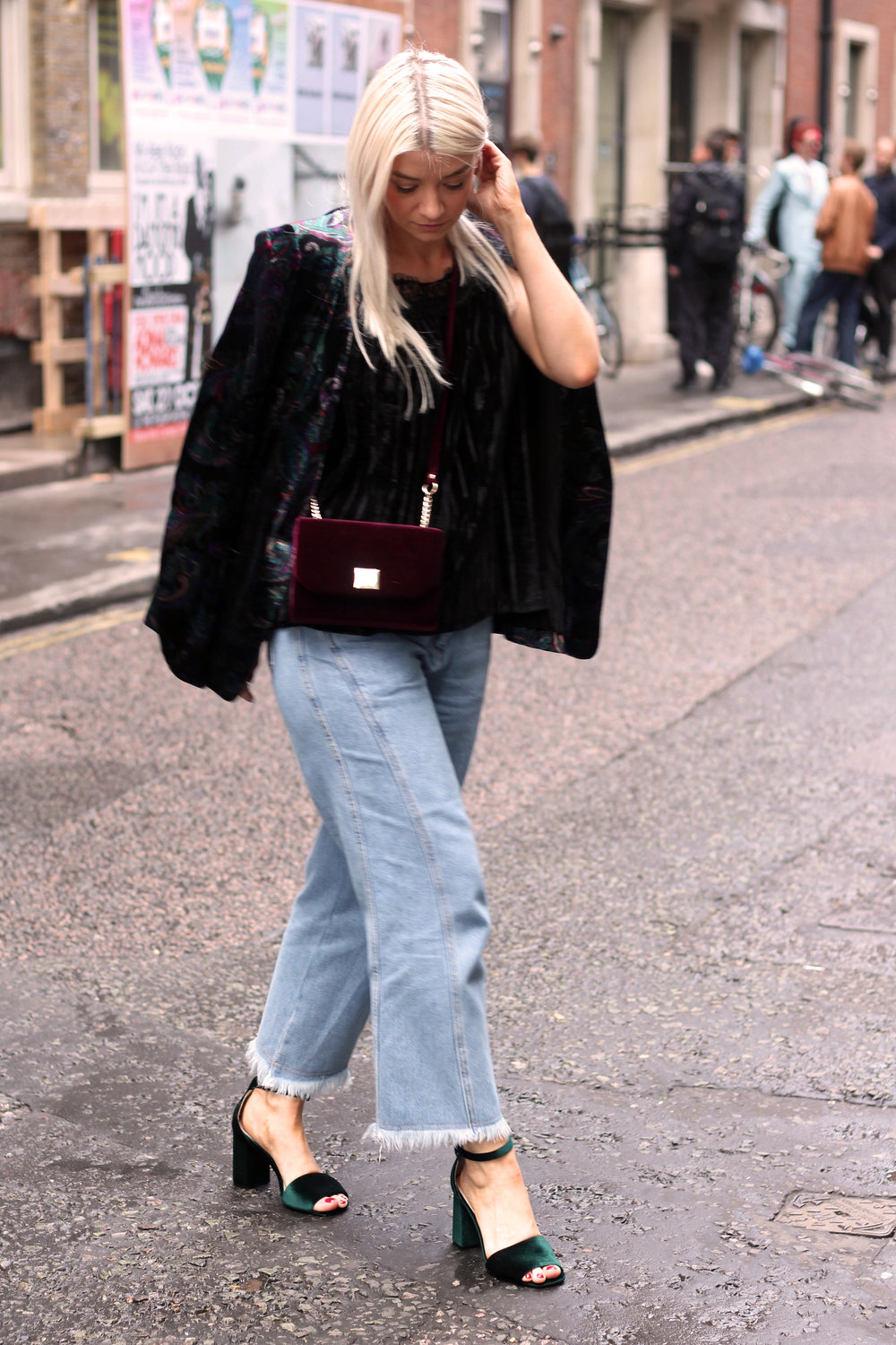 monsoon velvet collection, topshop jeans, chunky sandals, northern magpie, joey taylor 2
