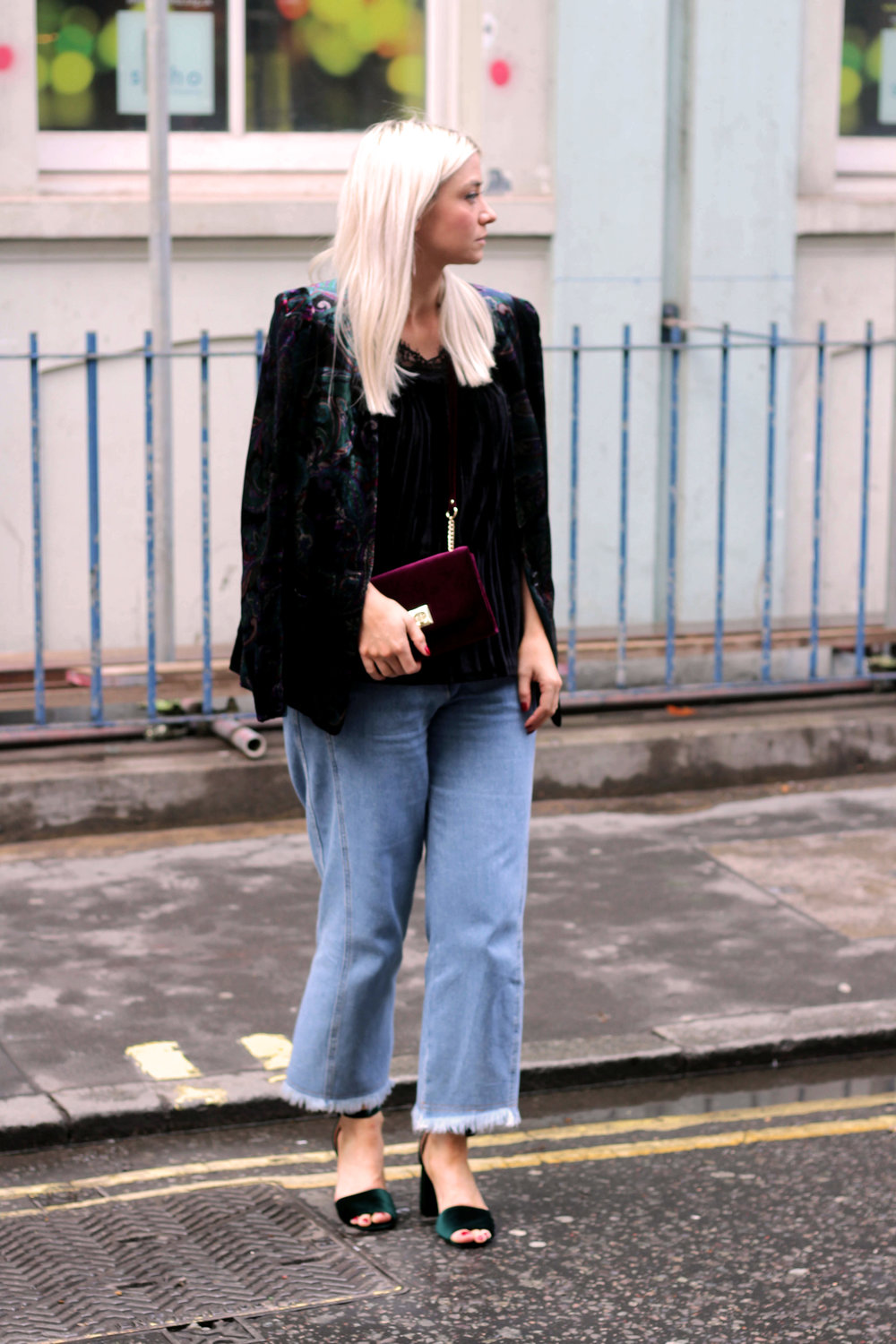 monsoon velvet collection, topshop jeans, chunky sandals, northern magpie, joey taylor 5