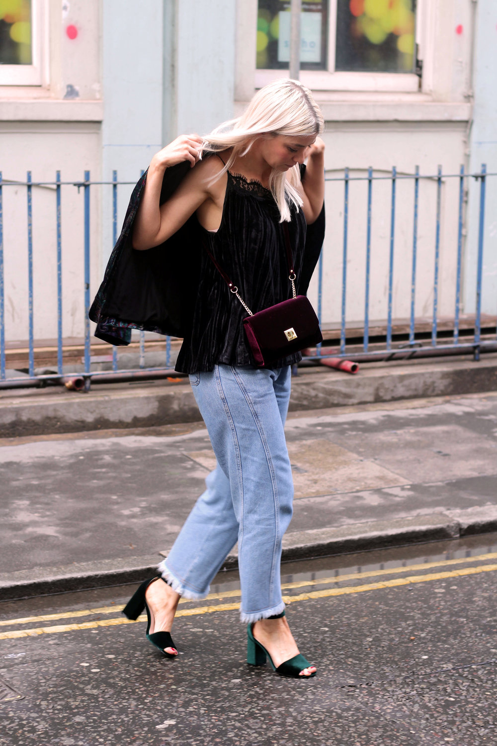 monsoon velvet collection, topshop jeans, chunky sandals, northern magpie, joey taylor 1