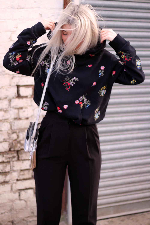 ERDEMxHM HOODIE, floral hoodie, silver boots, northern magpie, joey taylor 6