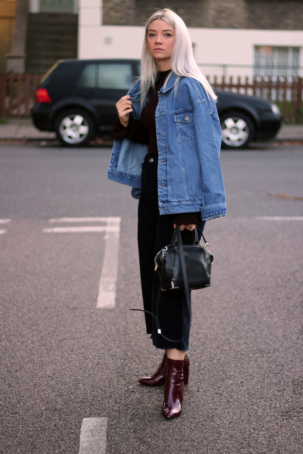 corduroy jeans, knitted high neck top, denim jacket, urban outfitters, joey taylor, northern magpie 3