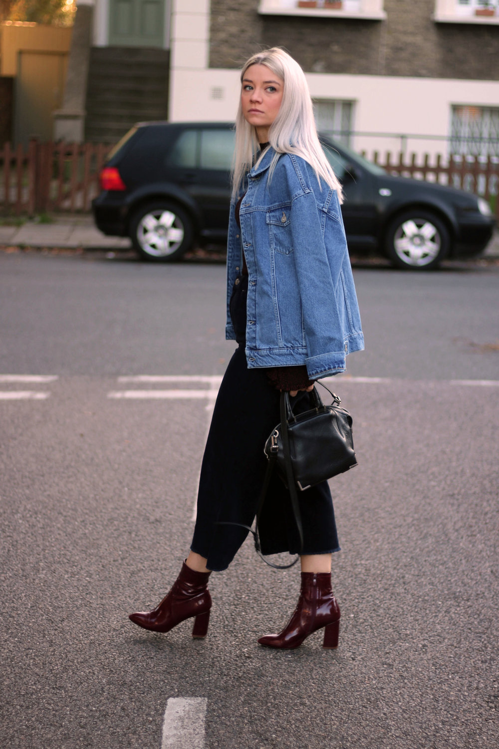 corduroy jeans, knitted high neck top, denim jacket, urban outfitters, joey taylor, northern magpie 5