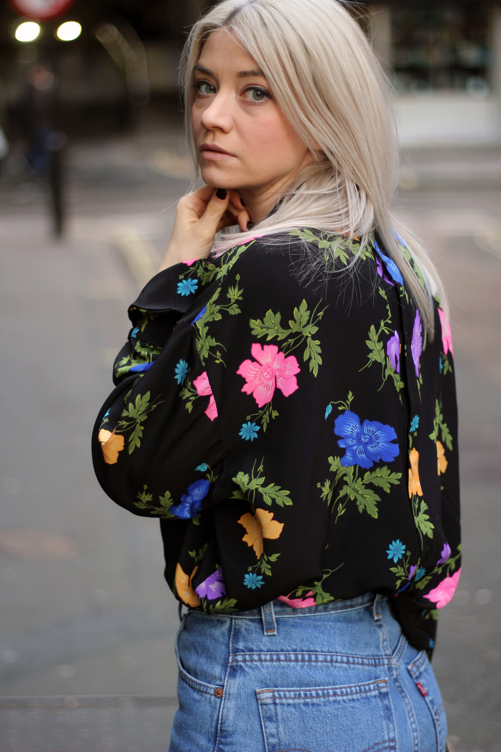Topshop boutique silk blouse, blogging with a full time job, northern magpie, joey taylor 1
