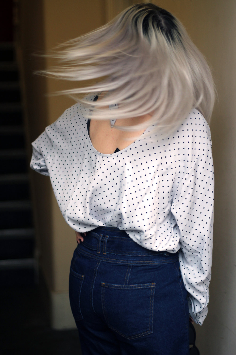 polka dots, dark denim, northern magpie 6