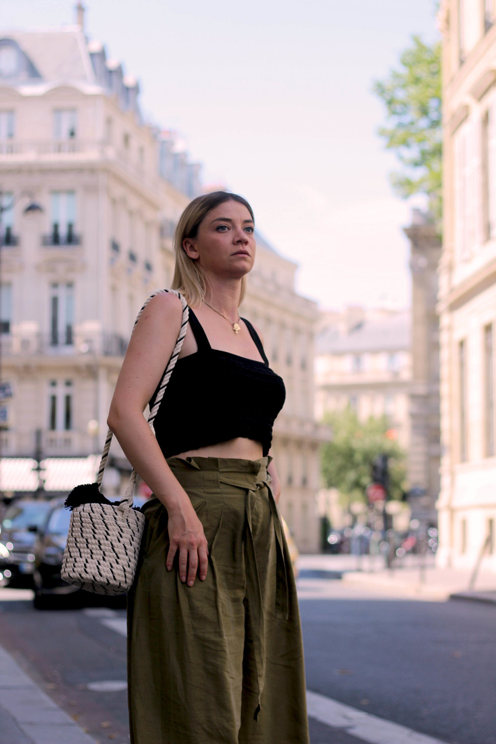 PARIS, CROP TOP, PAPERBAG TROUSERS, NORTHERN MAGPIE, JOEY TAYLOR 1