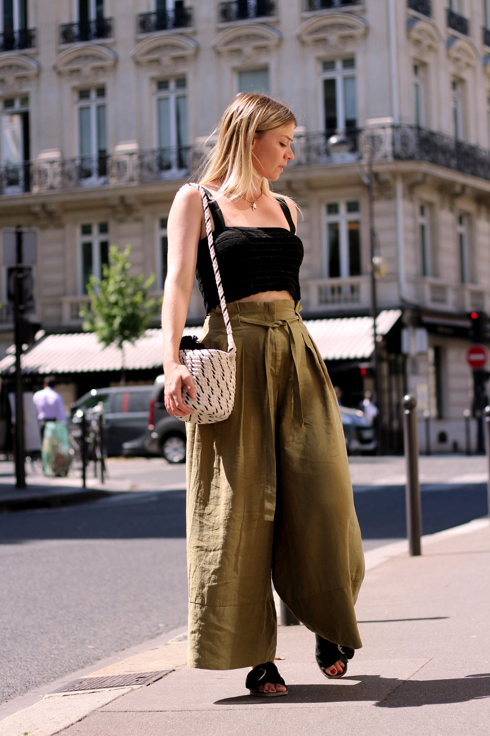 PARIS, CROP TOP, PAPERBAG TROUSERS, NORTHERN MAGPIE, JOEY TAYLOR 2