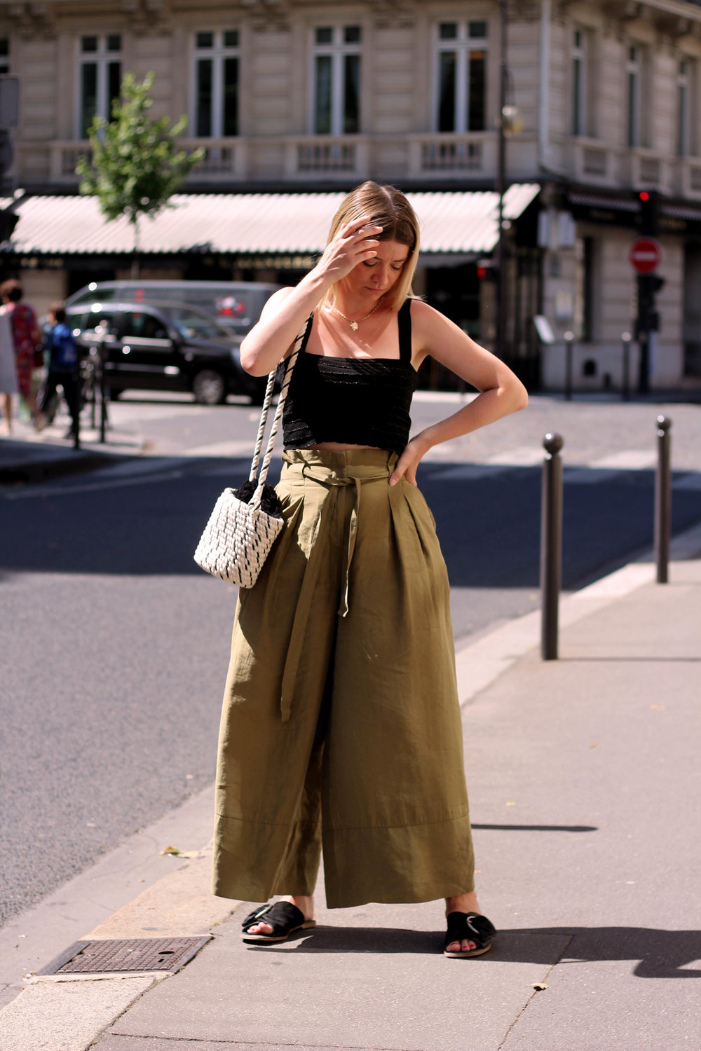 PARIS, CROP TOP, PAPERBAG TROUSERS, NORTHERN MAGPIE, JOEY TAYLOR 6
