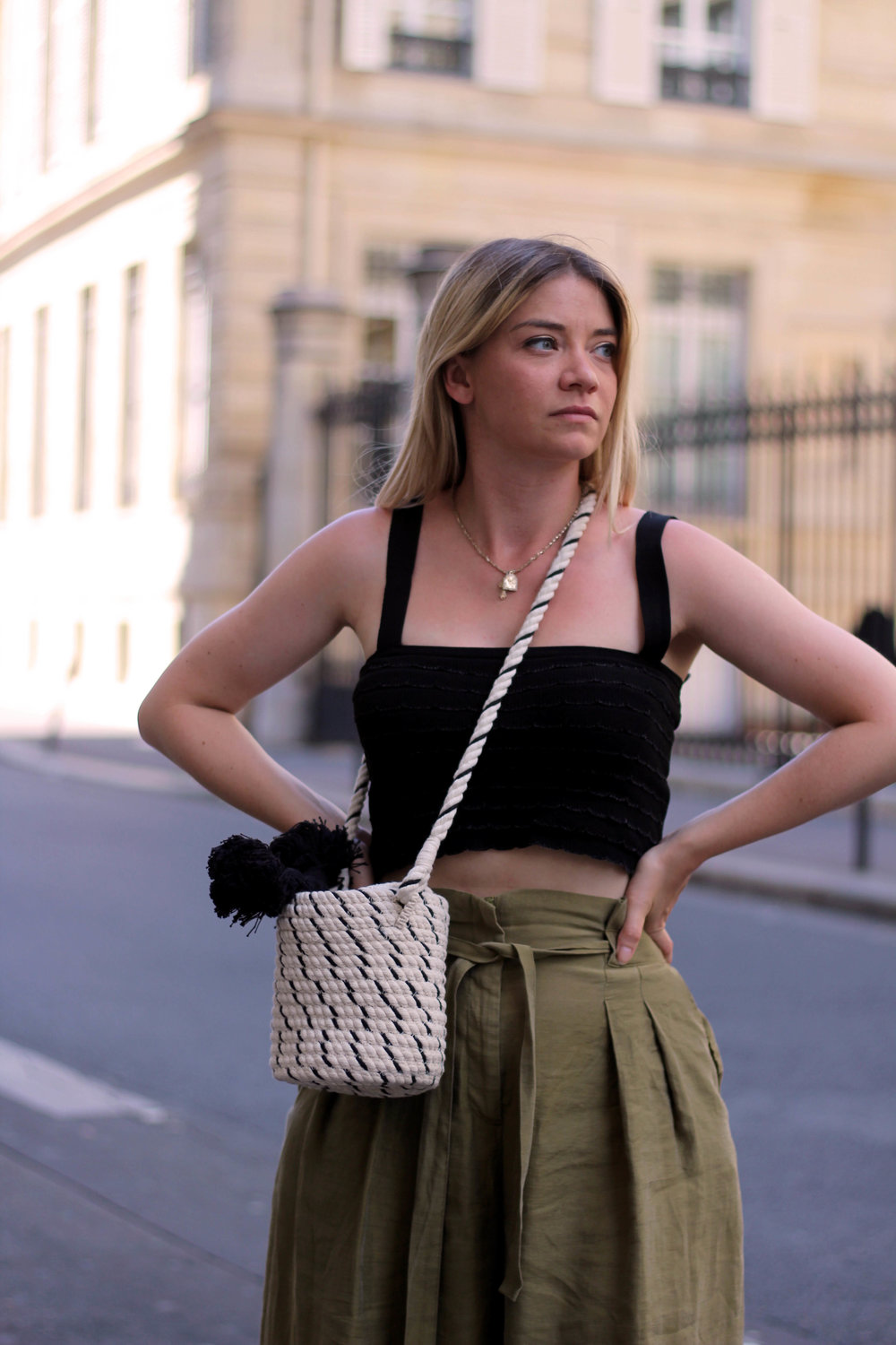 PARIS, CROP TOP, PAPERBAG TROUSERS, NORTHERN MAGPIE, JOEY TAYLOR 7