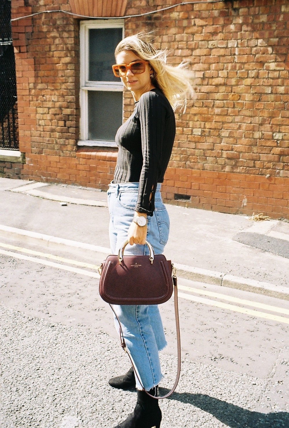long sleeve topshop, pauls boutique, northern magpie, joey taylor, vintage levi jeans 2