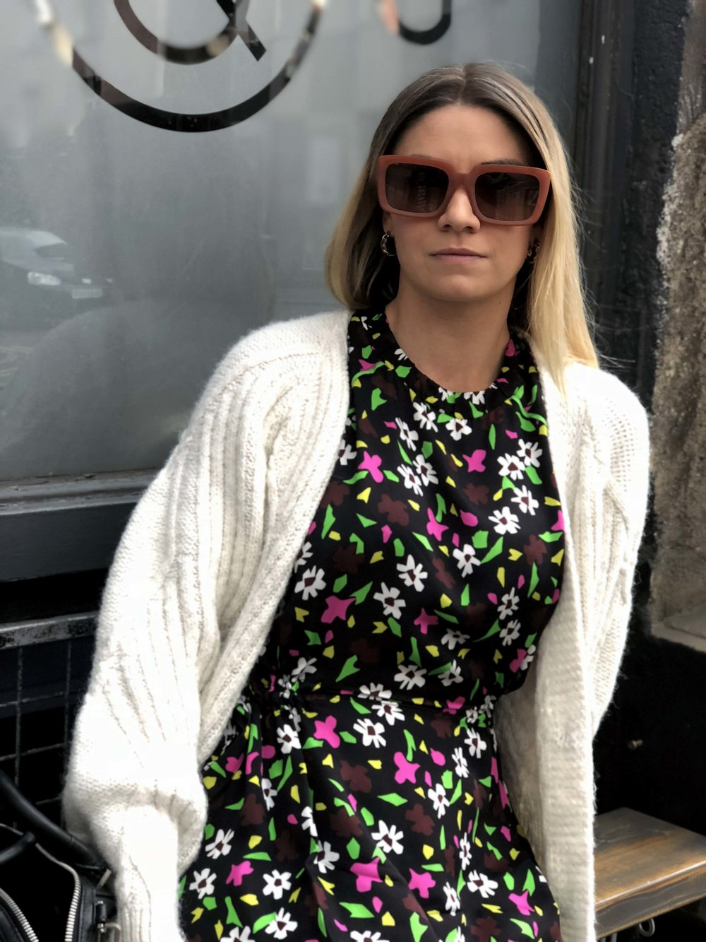 TOPSHOP BOUTIQUE DRESS, CHUNKY CARDIGAN, NORTHERN MAGPIE, MANCHESTER BRUNCH PLACES 6