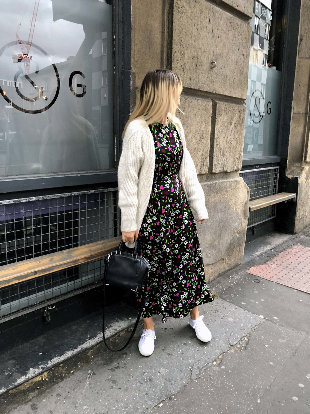 TOPSHOP BOUTIQUE DRESS, CHUNKY CARDIGAN, NORTHERN MAGPIE, MANCHESTER BRUNCH PLACES 7