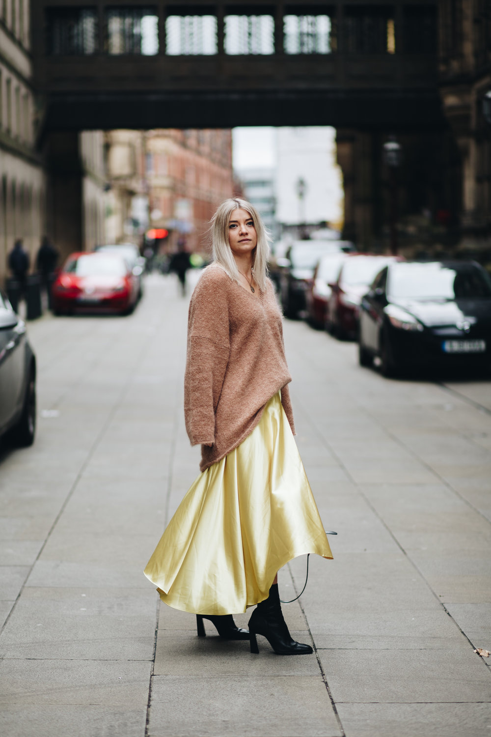 silky slip skirt, oversized knitwear, northern magpie, joey taylor 7