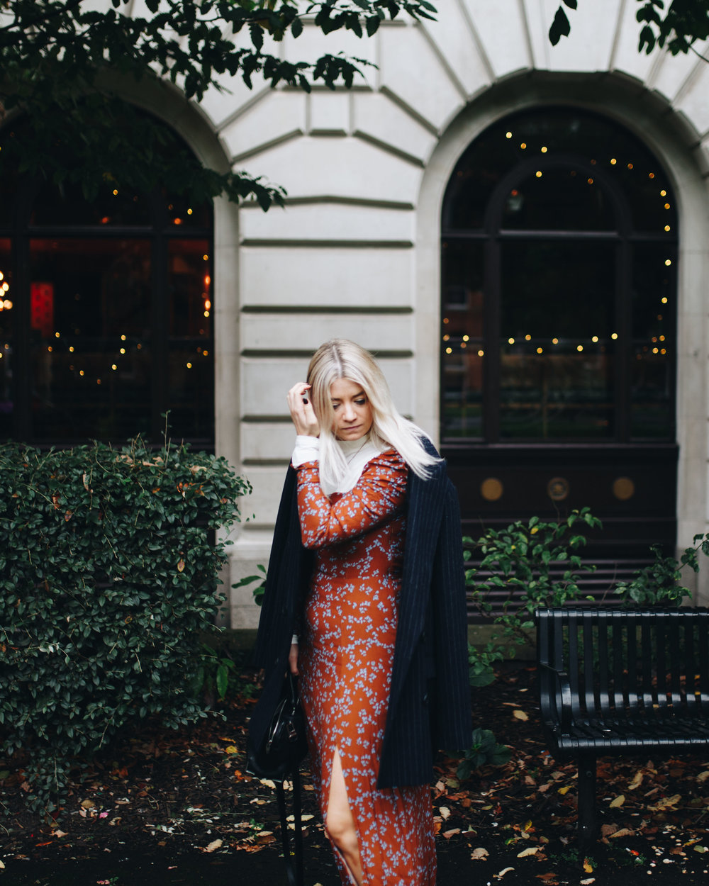 pizza, floral maxi dress, and other stories, manchester fashion, northern magpie, joey taylor 2