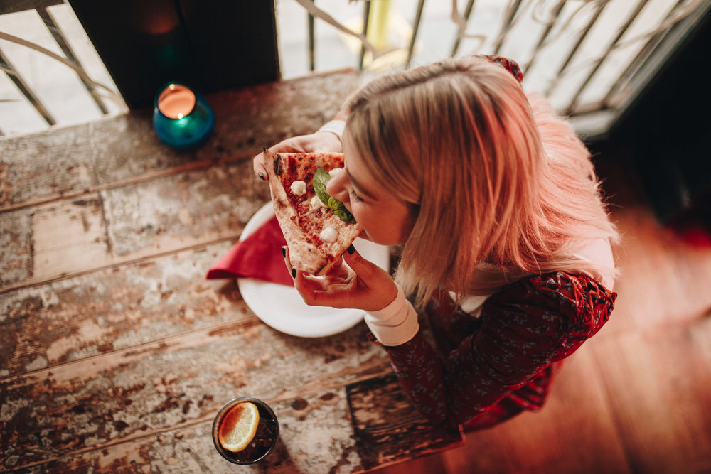 pizza, floral maxi dress, and other stories, manchester fashion, northern magpie, joey taylor 3