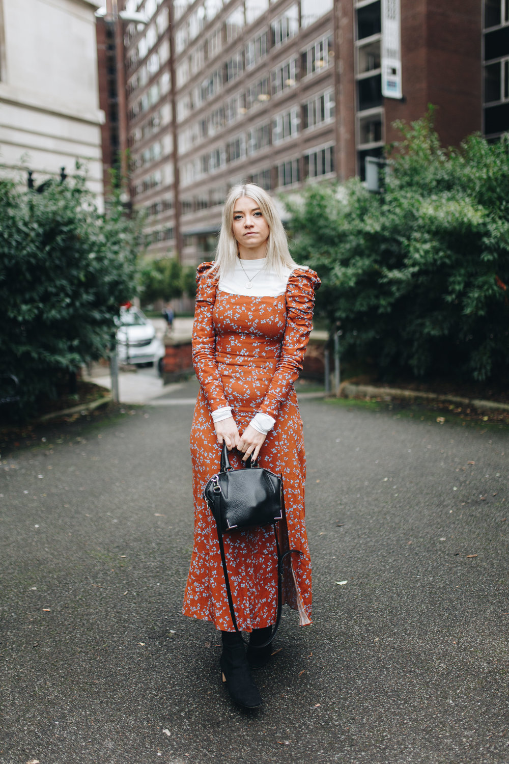 pizza, floral maxi dress, and other stories, manchester fashion, northern magpie, joey taylor 6