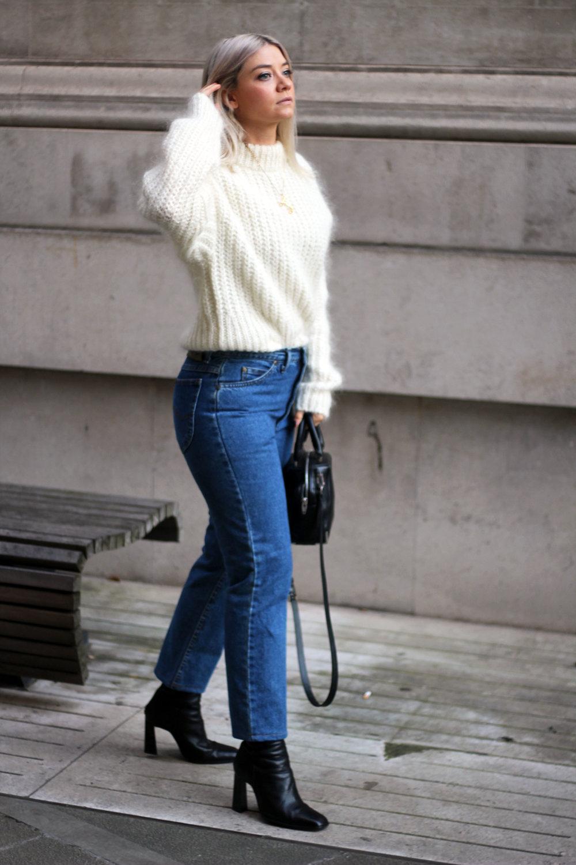 vintage jeans, Lee jeans, H&M jumper, black boots, northern magpie, joey taylor 6