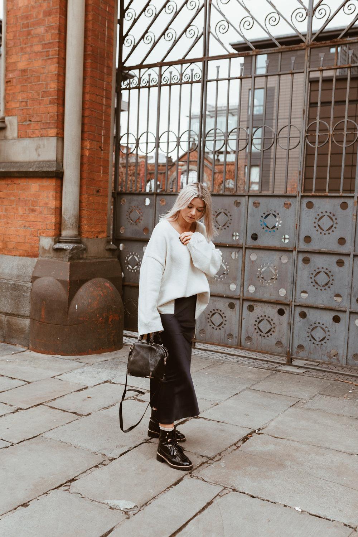 Tokyo Ramen review, Topshop slip skirt, cream knitwear, northern magpie, joey taylor 5