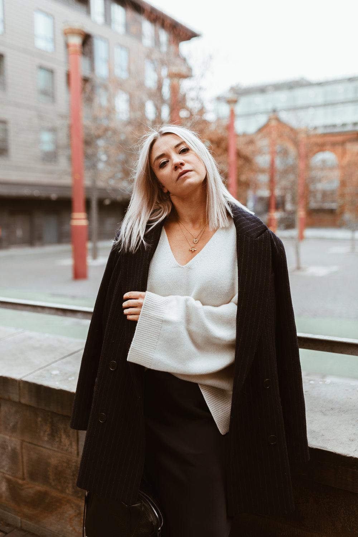 Tokyo Ramen review, Topshop slip skirt, cream knitwear, northern magpie, joey taylor 6