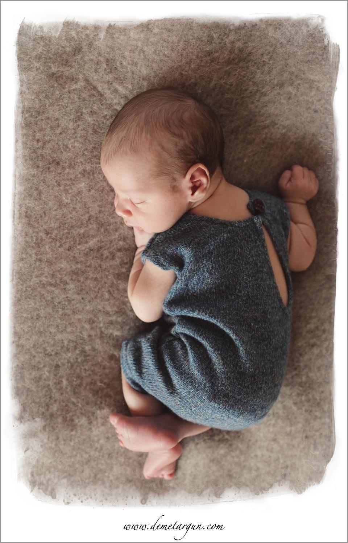 bursa yenidoğan bebek fotografi mavi tulum