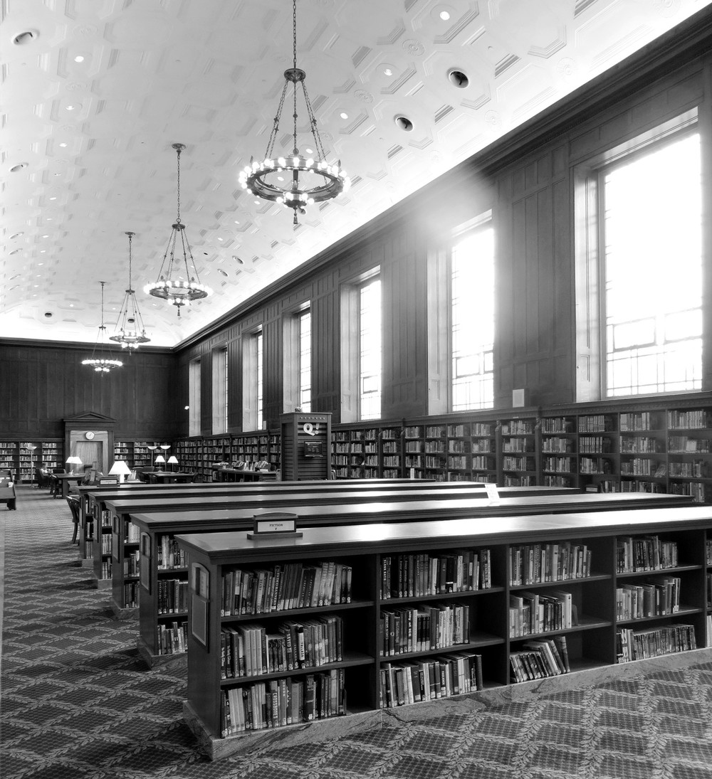 Indianapolis Central Library reading room - part of the original building completed in 1917.