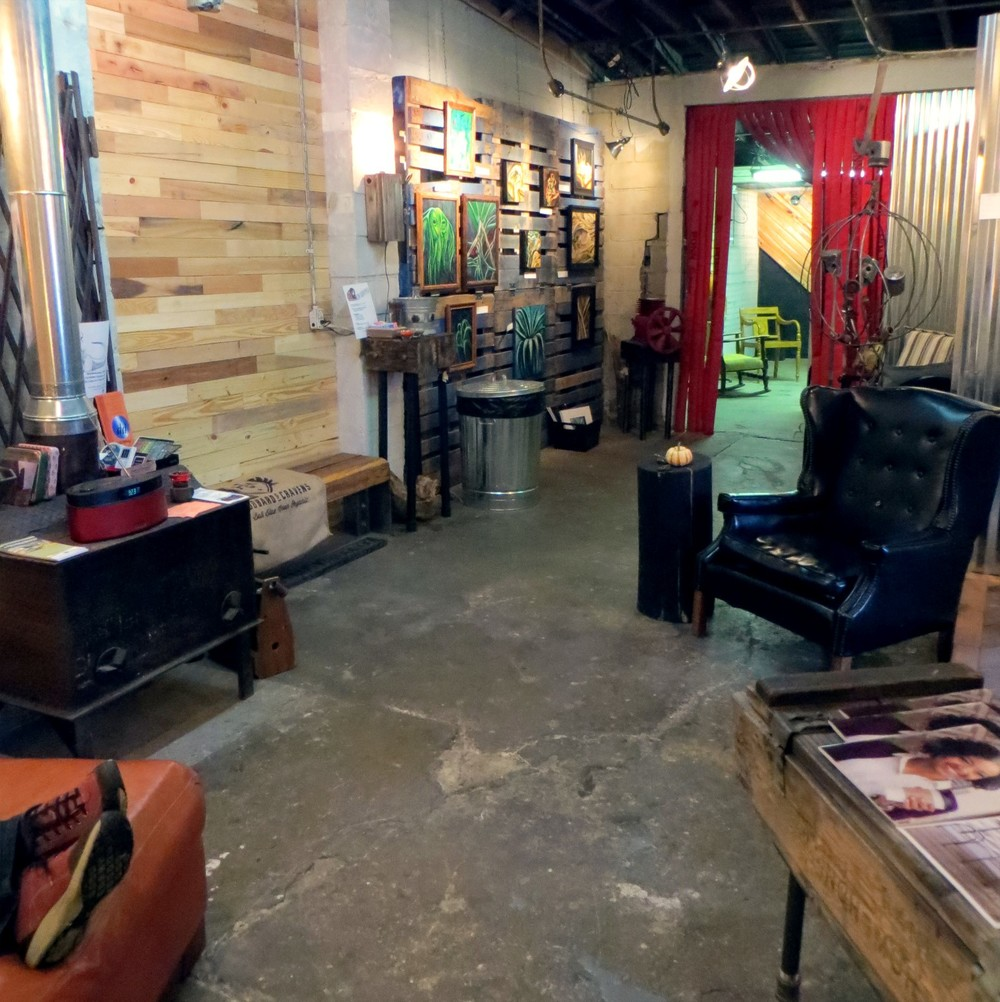There is a wonderful quirky-eclectic vibe at Coal Yard Coffee in Irvington, which serves Hubbard & Cravens coffee and tea.