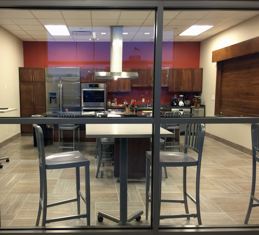 The teaching kitchen at the CityWay YMCA.