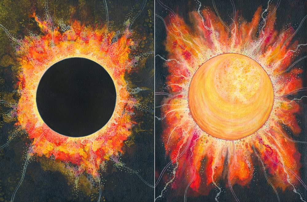 On the left:  Eclipse , on the right:  A star of your own