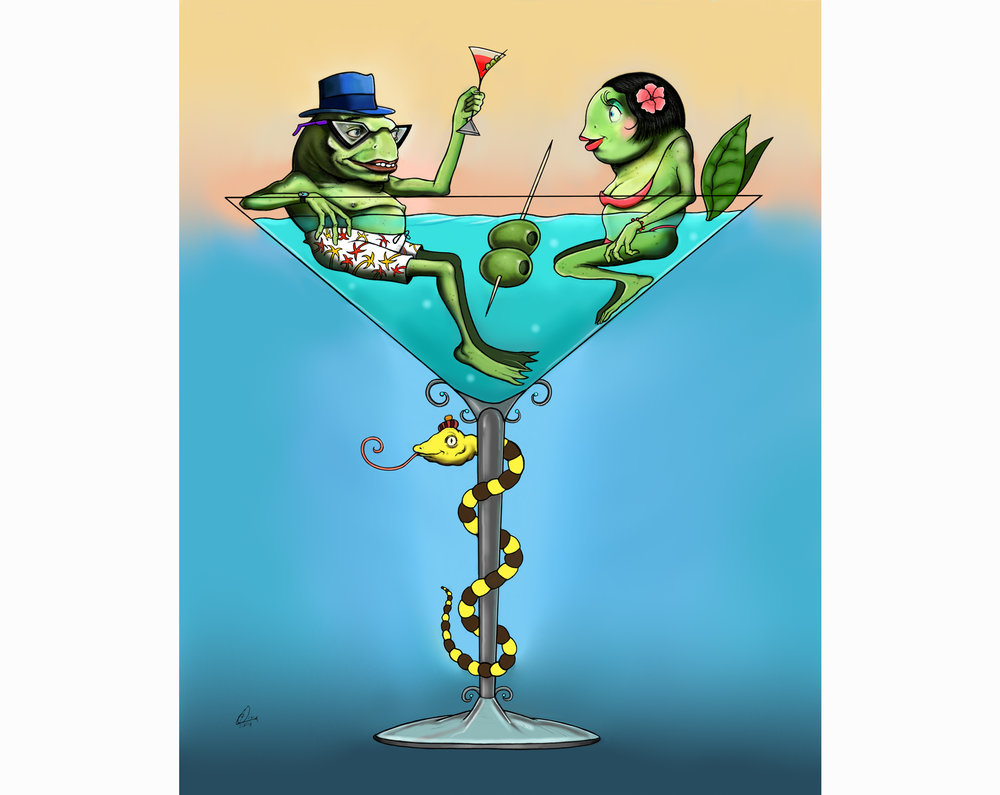 Frog Martini