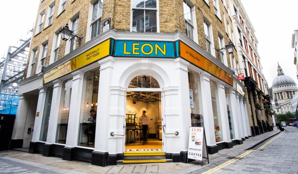 Leon founders John Vincent (MBE) and Henry Dimbleby (MBE) are passionate about health fast food