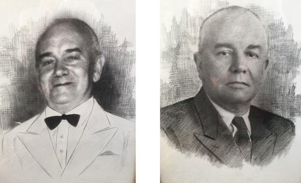 Joseph Miller Senior (R) - Joseph Miller Junior (L)
