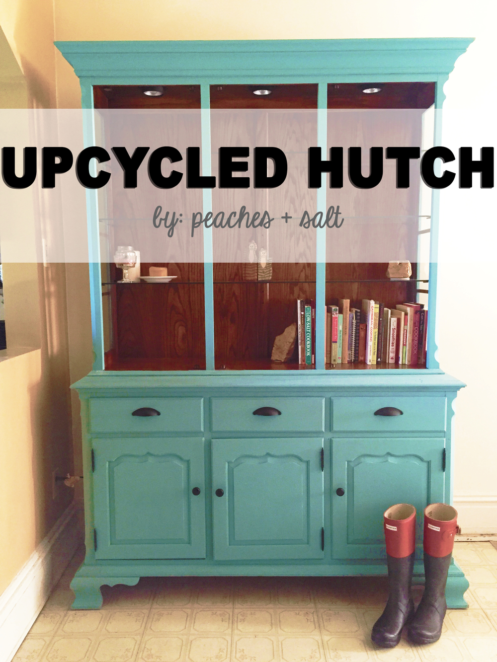 Upcycled Kitchen Upcycled Hutch Peaches Salt