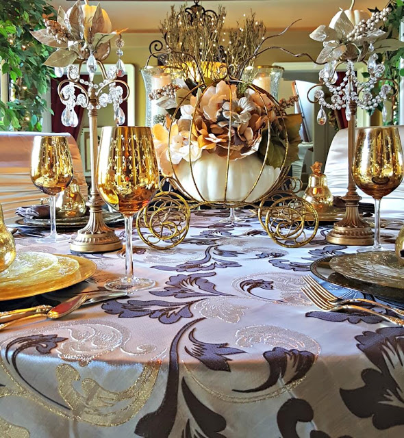 Fanciful Thanksgiving Table via Life and Linda