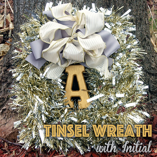 Tinsel Wreath via Curly Crafty Mom