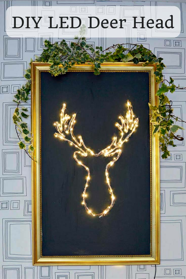 DIY LED Deer Head via Pillar Box Blue