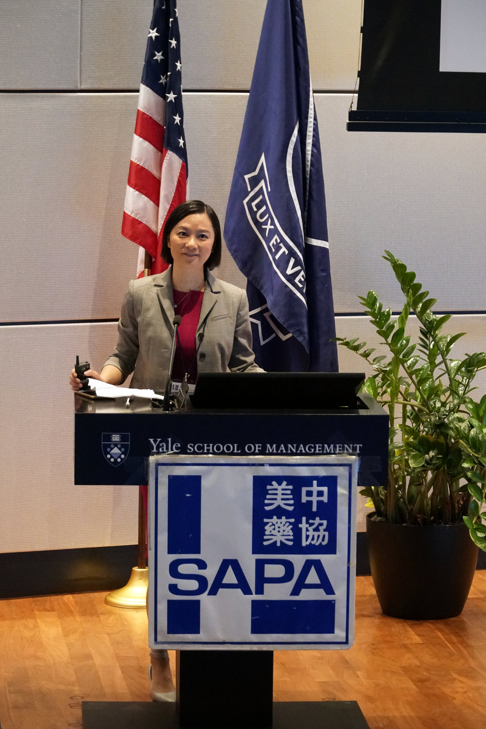 Jin Zhou, PhD, 2017 SAPA-CT President, introduced SAPA-CT to attendants.