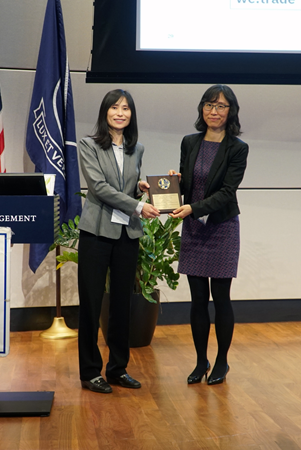 Dr. Xiuling Lu honored Dr. Jia Chen SAPA-CT speaker award