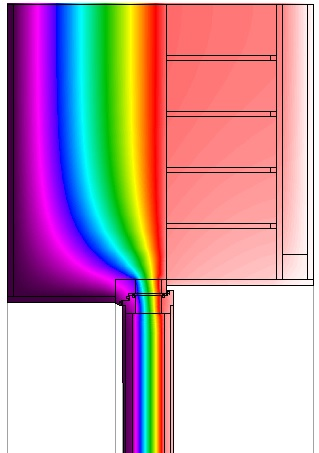Thermal Analysis of same window head detail (Therm software).