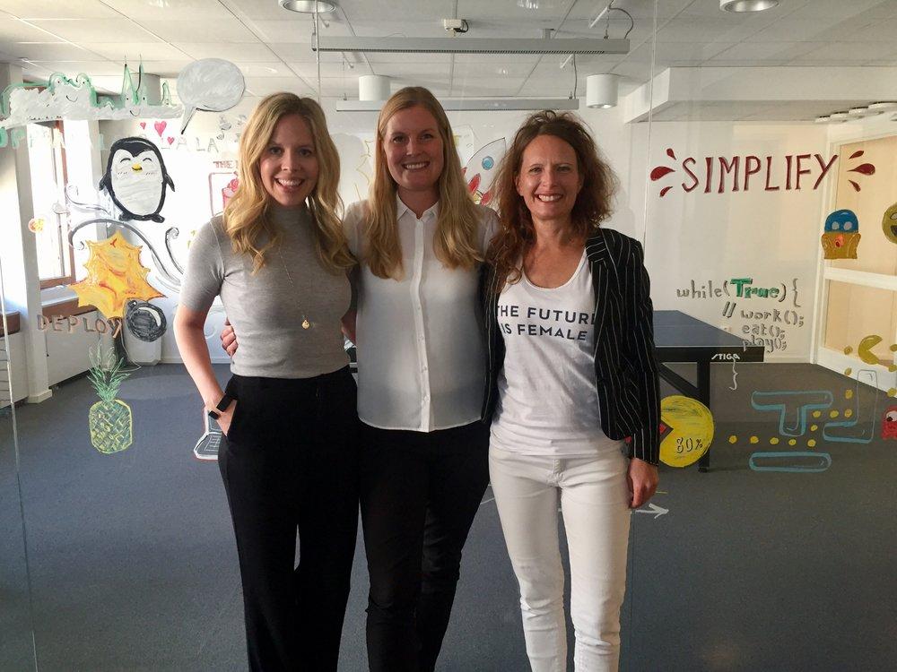 Från vänster: Caroline Lidman, Sara Lycke, Jessica Stark