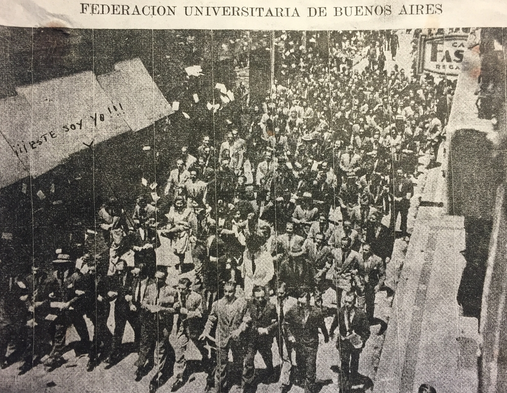 Participating in student protests