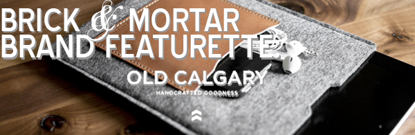 "From now until our POP-UP SHOP on July 18th, we'll be doing featurettes on each of the brands whose wares we'll stock. Be sure to come check us out at The Old Bank Barbers in Baltimore from July 18th-20th to see the specially curated collection in person. Brick & Mortar Brand Featurette: Old Calgary (Florida) Old Calgary's sleek collection of wallets and sleeves has a simple message, which is just that: simplicity. Pairing fine German wool with Italian leathers sourced from Tuscany to create their streamlined accessories, Old Calgary brings the best materials in the world to their U.S. workshop. Their stylish-yet-sensible goods protect the things you care about most– the things you carry with you. Our pick: ""Proxima"" iPad sleeve in Anthracite See past posts about Old Calgary by clicking here."