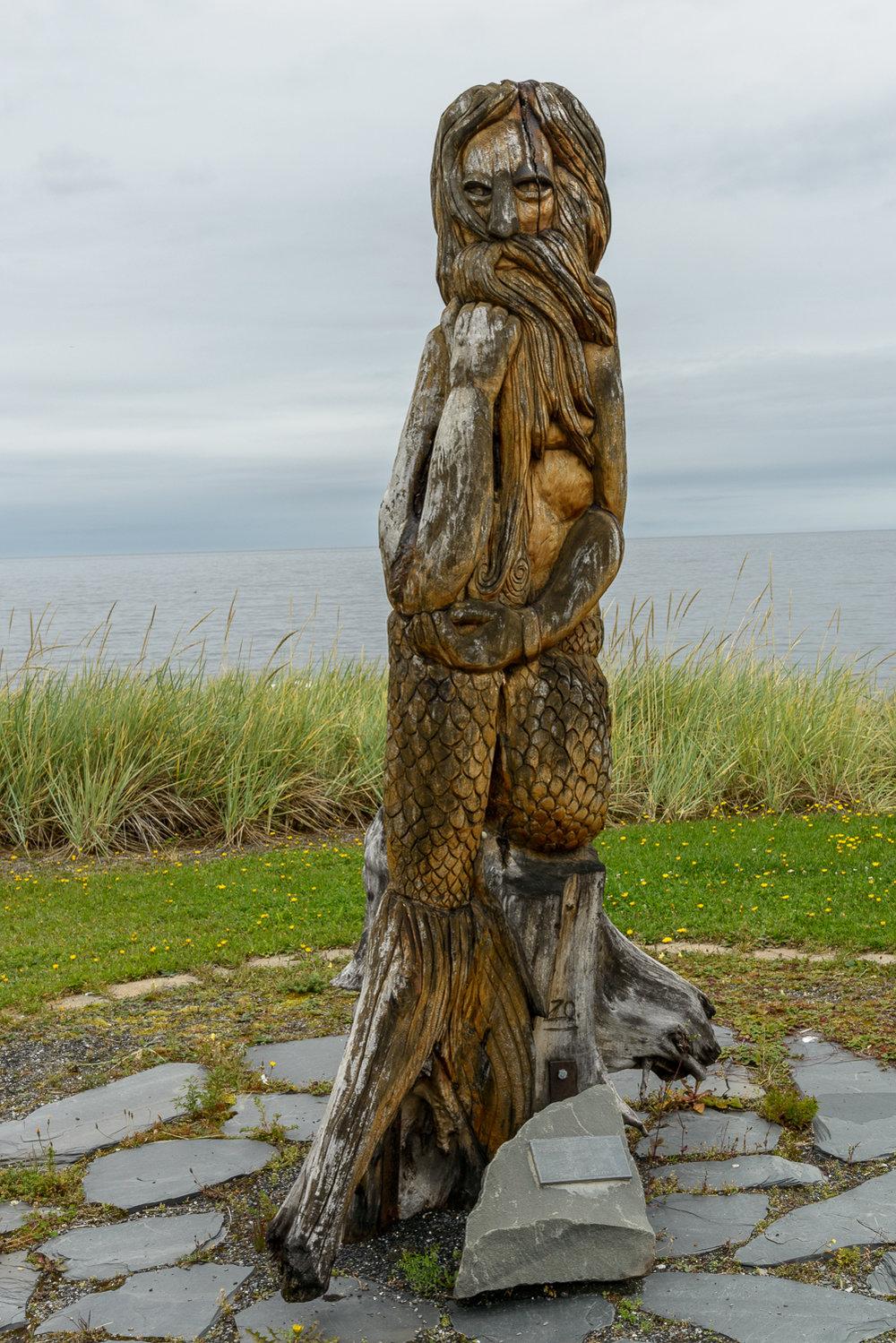 Wood carvings in sainte anne des monts gaspÉ quebec u kathleen o