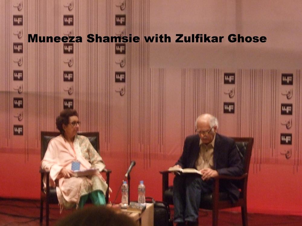 Zulfikar Ghose with Muneeza Shamsie